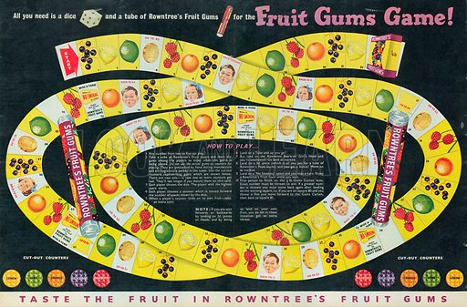 Rowntree's Fruits Gums Advertisement, 1954.