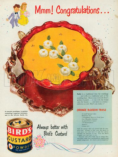 Bird's Custard Powder Advertisement, 1951.