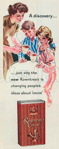 Rowtree's Cocoa Advertisement, 1951.