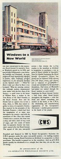 C W S Advertisement, 1951.
