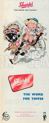 Sharps Toffee Advertisement, 1950.