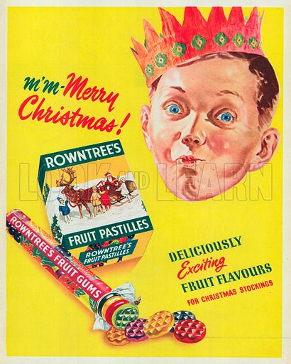 Rowntree's Fruits Gums Advertisement, 1950.