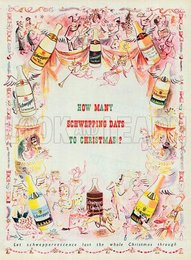 Schweppes Advertisement, 1950.
