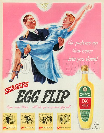 Seagers Egg Flip Advertisement, 1950.