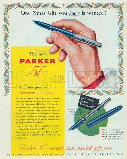 Parker '51' Advertisement, 1950.