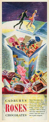 Cadburys Roses Chocolates Advertisement, 1951.