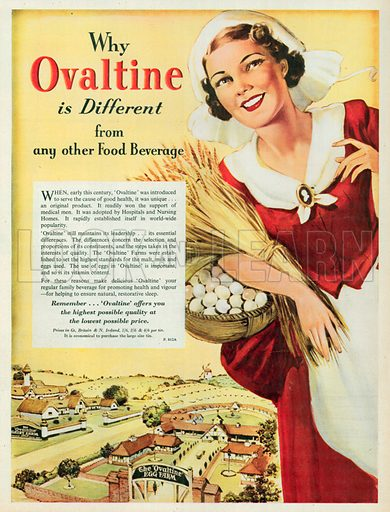 Ovaltine Advertisement, 1951.