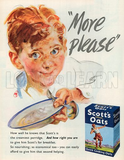 Scott's Oats Advertisement, 1951.