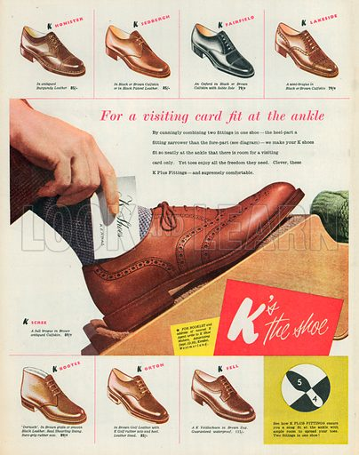 K's the Shoe Advertisement, 1951.