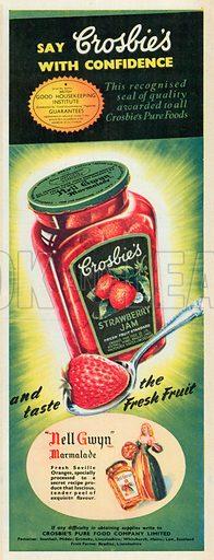 Croslie's Strawberry Jam Advertisement, 1951.