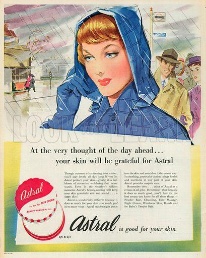 Astral Skin Cream Advertisement, 1951.