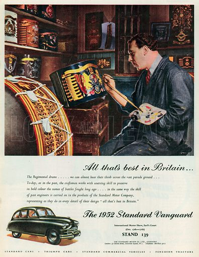 The 1952 Standard Vanguard Advertisement, 1951.