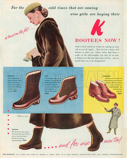 K Bootees Advertisement, 1951.