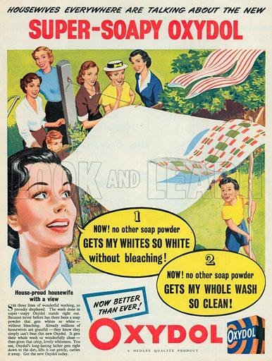 Oxydol Soap Advertisement, 1951.
