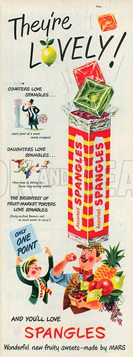 Assorted Spangles Advertisement, 1951.