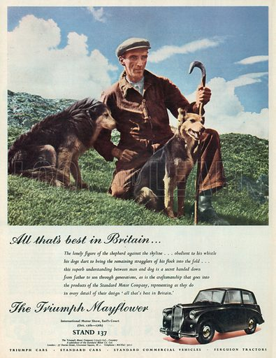The Triumph Mayflower Advertisement, 1951.