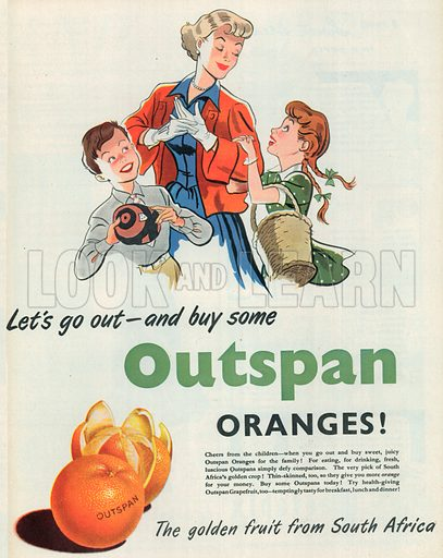 Outspan Advertisement, 1951.