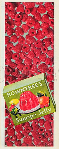 Rowntree's Sunripe Jelly Advertisement, 1951.