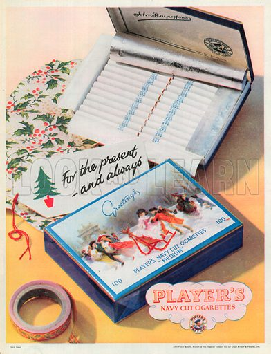 Player's Navy Cut Cigarettes Advertisement, 1952.