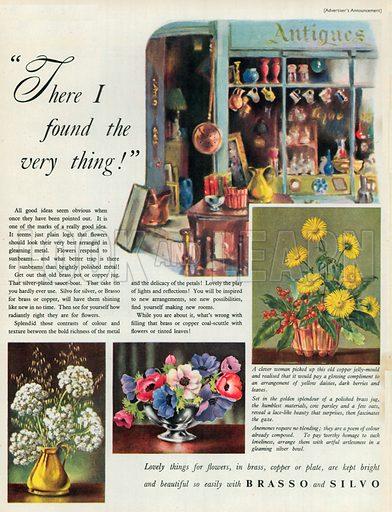 Brasso and Silvo Advertisement, 1952.