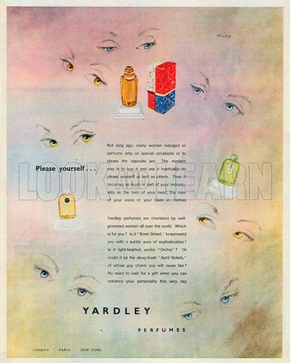 Yardley Perfume Advertisement, 1950.
