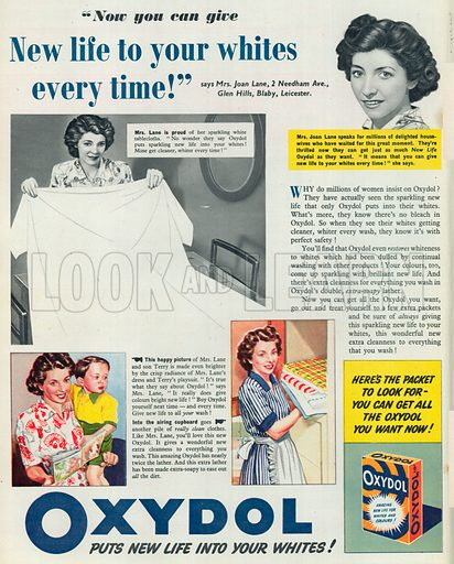 Oxydol Soap Advertisement, 1950.