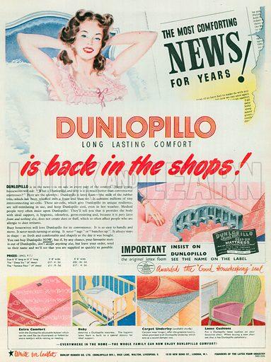 Dunlopillo Advertisement, 1950.