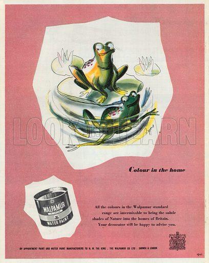 Walpamur Water Paint Advertisement, 1950.