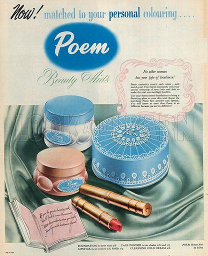 Poem Advertisement, 1950.