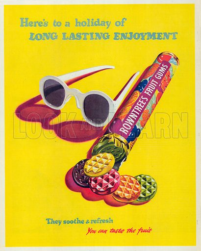 Rowntree's Fruit Gums Advertisement, 1950.