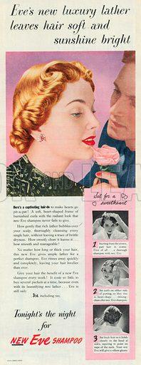 Eve Shampoo Advertisement, 1950.