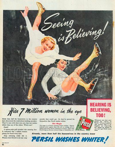 Persil Washes Whiter Advertisement, 1950.