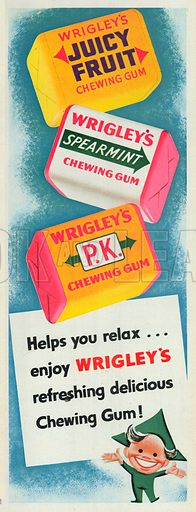 Wrigley's Chewing Gum Advertisement, 1953.