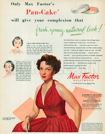 Max Factor Advertisement, 1952.