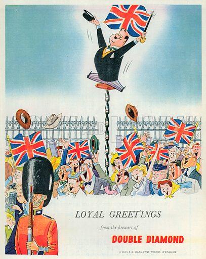 Double Diamond Advertisement, 1953.
