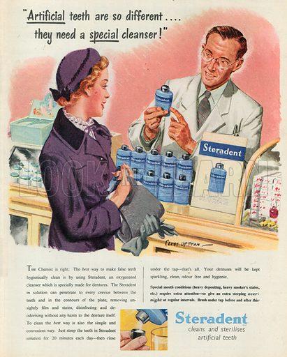 Steradent Advertisement, 1950.
