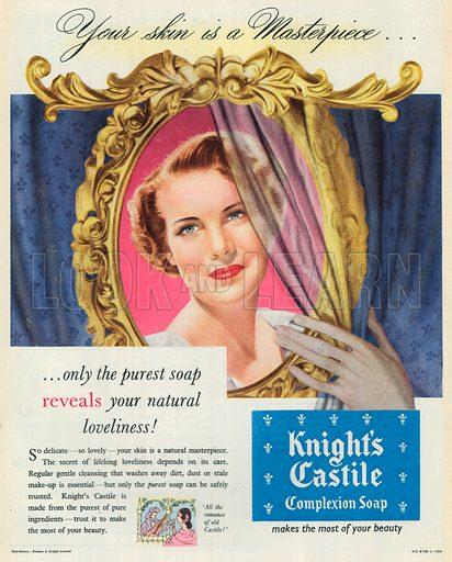 Knight's Castile Complexion Soap Advertisement, 1953.