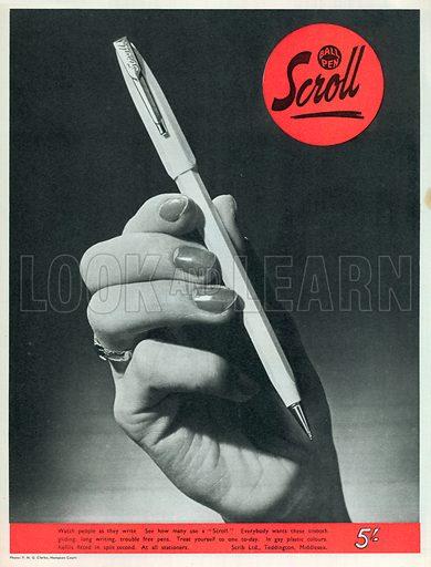 scroll Advertisement, 1950.