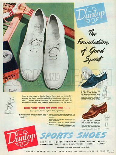 Dunlop Advertisement, 1950.