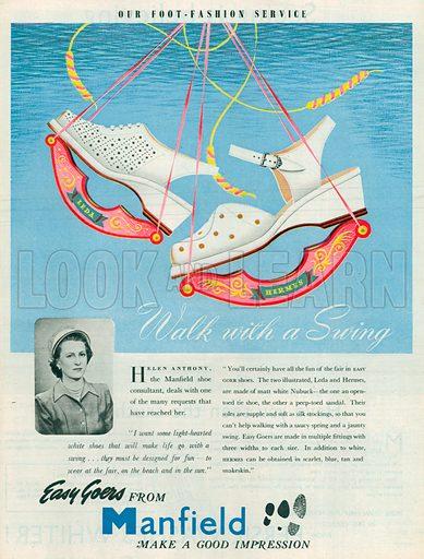 Manfield Advertisement, 1950.
