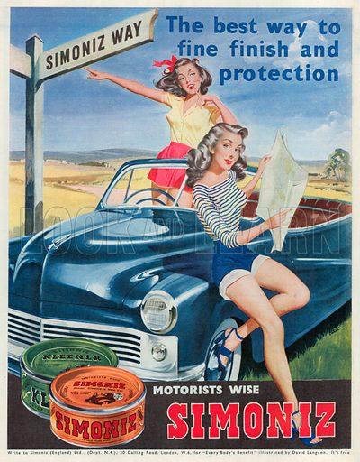 Simoniz Advertisement, 1950.