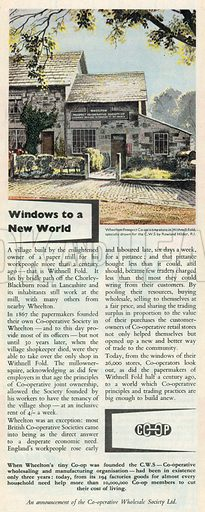 C.W.S. Advertisement, 1950.
