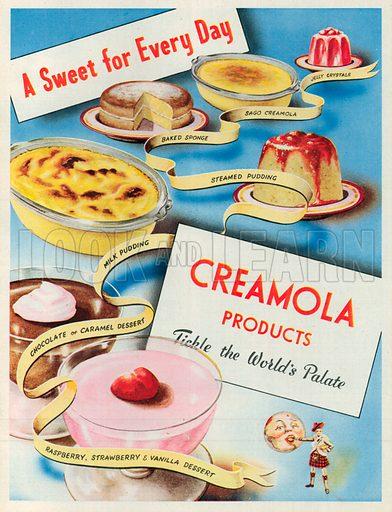 Creamola Advertisement, 1950.