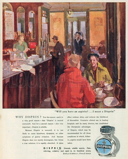 Disprin Advertisement, 1950.
