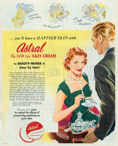 Astral Skin Cream Advertisement, 1950.