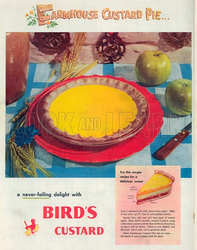 Bird's Custard Advertisement, 1950.