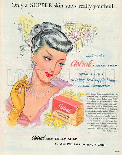 Astral Cream Soap Advertisement, 1950.