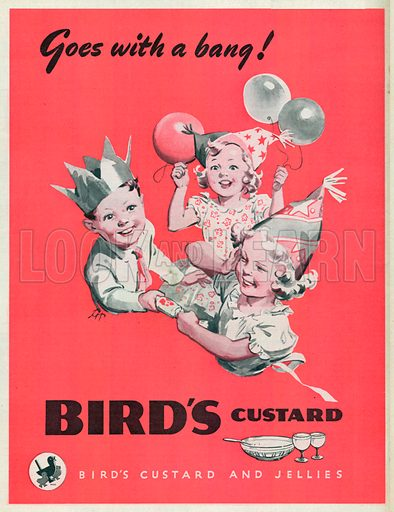 Bird's Custard Advertisement, 1949.
