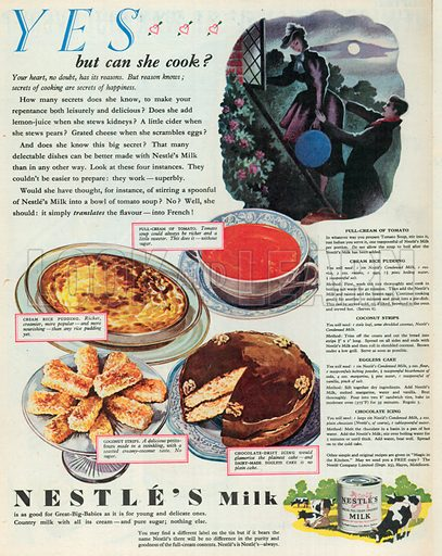 Nestle's Milk Advertisement, 1951.