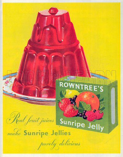 Rowntree's Sunripe Jelly Advertisement, 1950.